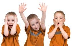 взволнованности мальчика Стоковое Изображение