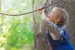 взволнованности ребенка счастливые Стоковое Изображение