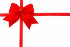 взгляда сверху orientatio подарка предпосылки обруч горизонтального белый Стоковая Фотография RF