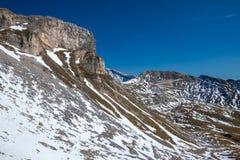 Взгляды вдоль дороги Grossglockner высокой высокогорной в Австрии Стоковое Изображение
