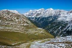 Взгляды вдоль дороги Grossglockner высокой высокогорной в Австрии Стоковые Изображения RF