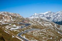 Взгляды вдоль дороги Grossglockner высокой высокогорной в Австрии Стоковое Изображение RF