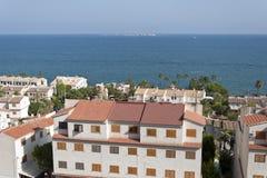 взгляды городка tabarca santa pola островка стоковая фотография rf