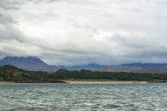 Взгляды деревни shieldaig стоковое изображение