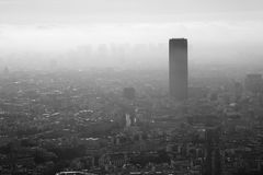 Взгляды европейского города Парижа на верхней части Стоковые Фото