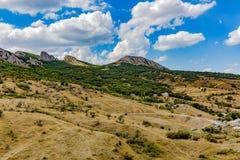 Взгляды и красота природы Крыма Ландшафты Крыма стоковое изображение rf