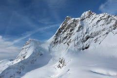 Взгляды ледника Jungfrau от верхней части стоковая фотография