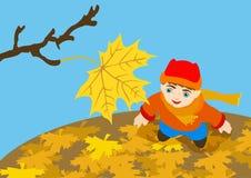 взгляды листьев ребенка последние Стоковое фото RF
