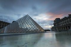 Взгляды Лувра в Париже Стоковая Фотография RF
