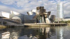 Взгляды музея guggenheim в Бильбао Стоковая Фотография RF