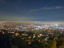 Взгляды ночи от обсерватории griffith стоковые изображения rf