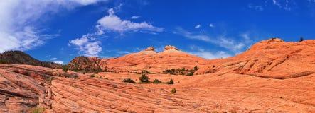 Взгляды от более низкого следа бухты песка к образованию вортекса, парком штата каньона снега в консервации Ar красных скал нацио стоковые изображения rf
