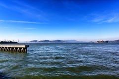 Взгляды от океана и пристани в Сан-Франциско Калифорния стоковое фото rf