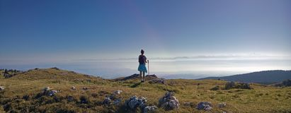Взгляды от tendre mont в швейцарской Юре к французским горным вершинам Стоковые Фотографии RF