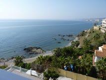 Взгляды пляжа в Испании Стоковое Изображение