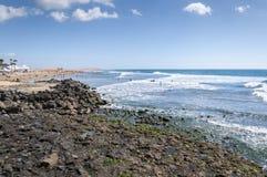 Взгляды пляжа Maspalomas стоковое изображение
