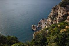 Взгляды побережья Амальфи стоковые фотографии rf