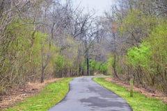 Взгляды природы и троп вдоль Greenway дн Shelby и естественных следов frontage Рекы Cumberland зоны, hardw bottomland стоковая фотография rf