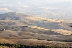 взгляды холмов панорамные тосканские Стоковые Фотографии RF
