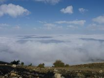 Взгляды Greant на верхней части держателя Jabalcuz, AndalucÃa Стоковые Изображения RF