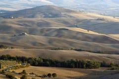 взгляды montepulciano холмов Стоковое Изображение RF