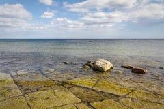 Взгляд Ã-земли Kalkenshällar costal стоковое изображение rf