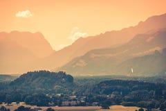 Взгляд австрийца Альпов около Зальцбурга Стоковые Изображения