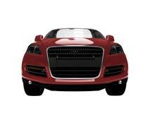 взгляд автомобиля изолированный фронтом красный Стоковое Изображение