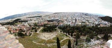 Взгляд акрополя Афин стоковое изображение rf