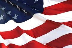 взгляд американского флага горизонтальный Стоковая Фотография RF
