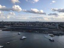 Взгляд Амстердама от башни Адама Стоковая Фотография