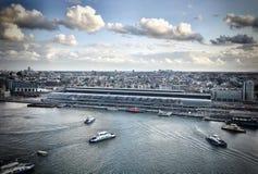 Взгляд Амстердама от башни Адама Стоковые Фото