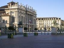 Взгляд аркады Castello Турин Стоковое Изображение RF