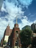 Взгляд архитектуры в городском Далласе, Техасе, США Стоковые Изображения