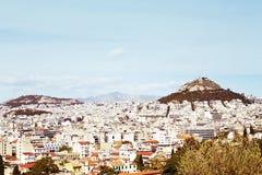 Взгляд Афина от акрополя стоковое фото rf