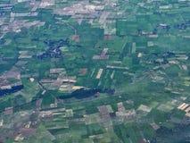 Взгляд аэроплана от окна Стоковое Фото