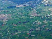 Взгляд аэроплана от окна стоковая фотография rf