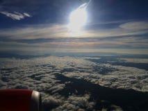 Взгляд аэроплана от окна стоковое изображение