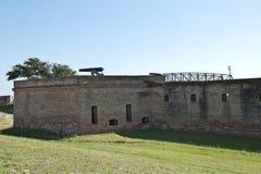 Взгляд бастиона на форте Gaines на острове дофина в Alabam Стоковые Фото