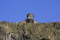 взгляд башенки edinburgh Шотландии замока Стоковые Фото