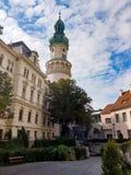 Взгляд башни огня, Sopron стоковые фотографии rf
