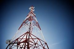 Взгляд башни радиосвязей стоковое фото
