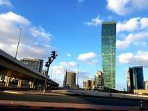 Взгляд башни U-Bora в заливе дела район в Дубай стоковые изображения