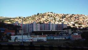Взгляд бедного района в Каракасе стоковая фотография rf