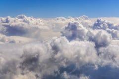 Взгляд белых облаков Стоковая Фотография RF