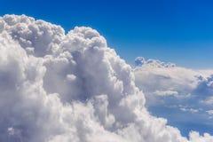 Взгляд белых облаков Стоковые Изображения