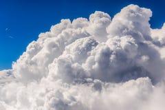 Взгляд белых облаков Стоковые Изображения RF