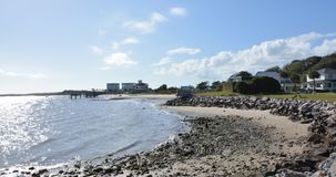 Взгляд берега вдоль побережья Северной Каролины стоковое фото