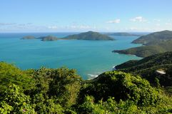Взгляд береговой линии Tortola Стоковые Фотографии RF