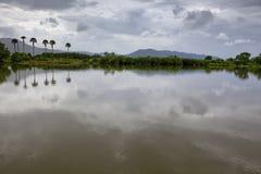 взгляд берег реки Камбоджи южный Стоковая Фотография RF